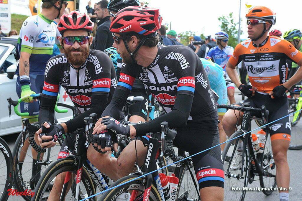 Rheinfelden - Switserland - wielrennen - cycling - radsport - cyclisme - Simon Geschke (Germany / Team Giant - Alpecin) -= Laurens Ten Dam (Netherlands / Team Giant - Alpecin) - Maurits Lammertink (Netherlands / Roompot - Oranje Peloton) pictured during stage 3 of the Tour de Suisse 2016 from Grosswangen to Rheinfelden (192.6 km) - photo Miwa IIjima/Cor Vos © 2016