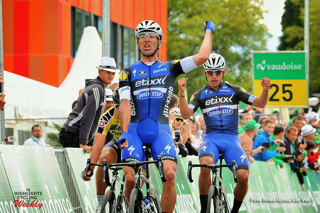 Champagne - Switserland - wielrennen - cycling - radsport - cyclisme - Richeze Maximiliano Ariel (Argentina / Team Etixx - Quick Step) - Gaviria Rendon Fernando (Columbia / Team Etixx - Quick Step) - Sagan Peter (Slowakia / Team Tinkoff - Tinkov) pictured during stage 4 of the Tour de Suisse 2016 from Rheinfelden to Champagne (193 km) - photo Miwa IIjima/Cor Vos © 2016
