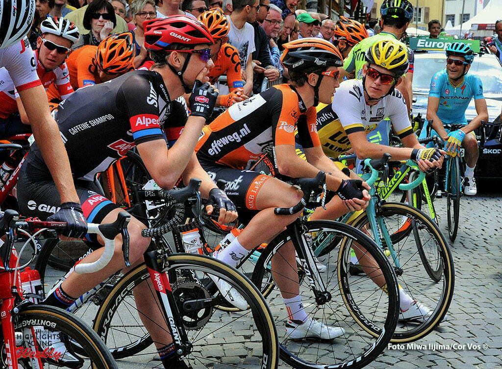 Carì - Switserland - wielrennen - cycling - radsport - cyclisme - Sindre Skjoestad Lunke (Norway / Team Giant - Alpecin) - Nick van der Lijke (Netherlands / Roompot - Oranje Peloton) - Koen Bouwman (Netherlands / Team LottoNL - Jumbo) pictured during stage 5 of the Tour de Suisse 2016 from Brig-Glis to Carì (126,4 km) - photo Miwa IIjima/Cor Vos © 2016