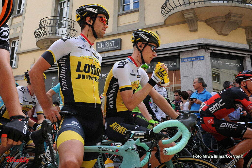 Carì - Switserland - wielrennen - cycling - radsport - cyclisme - Tom Van Asbroeck (Belgium / Team LottoNL - Jumbo) - Wilco Kelderman (Netherlands / Team LottoNL - Jumbo) pictured during stage 5 of the Tour de Suisse 2016 from Brig-Glis to Carì (126,4 km) - photo Miwa IIjima/Cor Vos © 2016