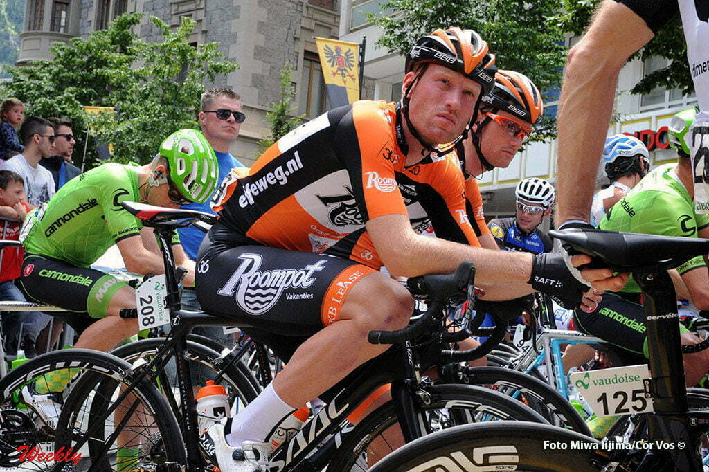 Carì - Switserland - wielrennen - cycling - radsport - cyclisme - Berden de Vries (Netherlands / Roompot - Oranje Peloton) - Pieter Weening (Netherlands / Roompot - Oranje Peloton) pictured during stage 5 of the Tour de Suisse 2016 from Brig-Glis to Carì (126,4 km) - photo Miwa IIjima/Cor Vos © 2016