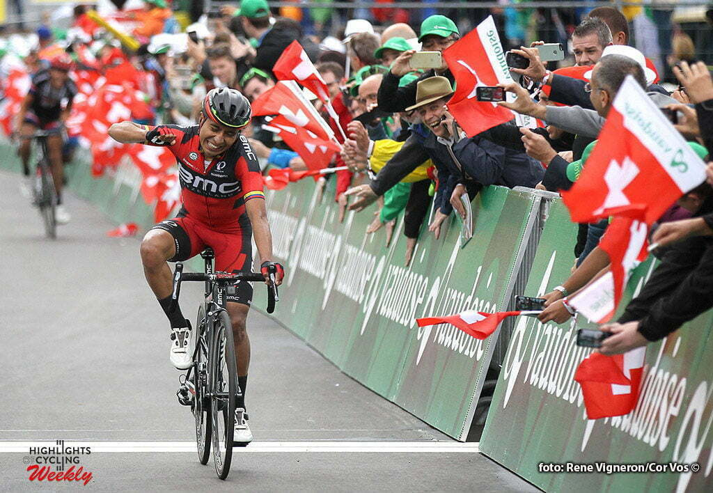Carì - Switserland - wielrennen - cycling - radsport - cyclisme - Darwin Atapuma Hurtado (Columbia / BMC Racing Team) pictured during stage 5 of the Tour de Suisse 2016 from Brig-Glis to Carì (126,4 km) - photo Rene Vigneron/Cor Vos © 2016