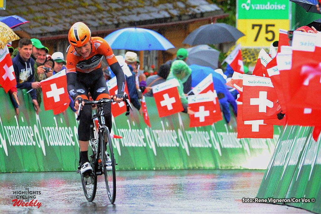 Amden - Switserland - wielrennen - cycling - radsport - cyclisme - Pieter Weening (Netherlands / Roompot - Oranje Peloton) pictured during stage 6 of the Tour de Suisse 2016 from Weesen to Amden (162,8 km) - photo Miwa IIjima/Cor Vos © 2016