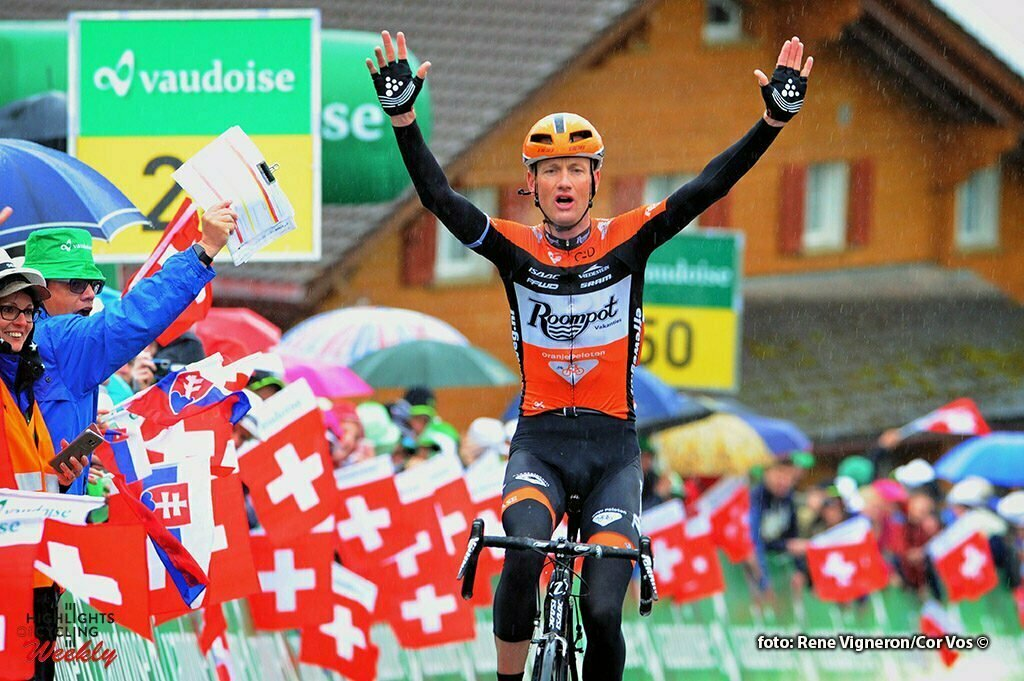Amden - Switserland - wielrennen - cycling - radsport - cyclisme - Pieter Weening (Netherlands / Roompot - Oranje Peloton) pictured during stage 6 of the Tour de Suisse 2016 from Weesen to Amden (162,8 km) - photo Miwa IIjima/Cor Vos © 2016