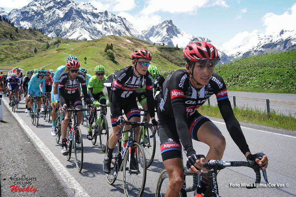 Solden - Austria - wielrennen - cycling - radsport - cyclisme - Warren Barguil (France / Team Giant - Alpecin) - Sam Oomen (Netherlands / Team Giant - Alpecin) - Laurens Ten Dam (Netherlands / Team Giant - Alpecin) pictured during stage 7 of the Tour de Suisse 2016 from Arbon to Solden (224.3 km) - photo Miwa IIjima/Cor Vos © 2016
