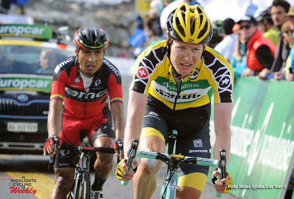 Solden - Austria - wielrennen - cycling - radsport - cyclisme - Wilco Kelderman (Netherlands / Team LottoNL - Jumbo) - Atapuma Hurtado Darwin (Columbia / BMC Racing Team) pictured during stage 7 of the Tour de Suisse 2016 from Arbon to Solden (224.3 km) - photo Miwa IIjima/Cor Vos © 2016