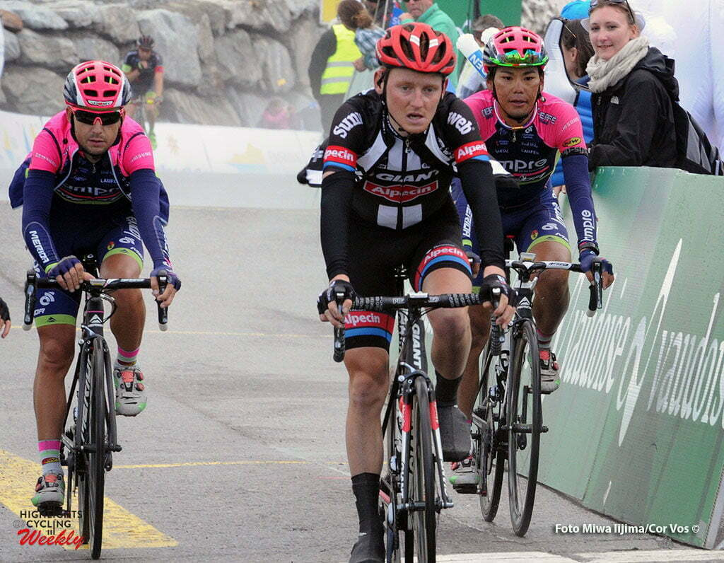 Solden - Austria - wielrennen - cycling - radsport - cyclisme - Sam Oomen (Netherlands / Team Giant - Alpecin) - Yukiya Arashiro (Japon / Team Lampre - Merida) pictured during stage 7 of the Tour de Suisse 2016 from Arbon to Solden (224.3 km) - photo Miwa IIjima/Cor Vos © 2016