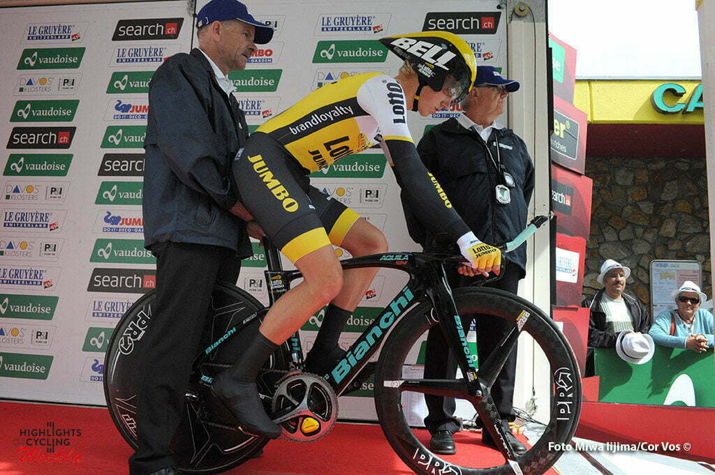 Davos - Switserland - wielrennen - cycling - radsport - cyclisme - Koen Bouwman (Netherlands / Team LottoNL - Jumbo) pictured during stage 8 of the Tour de Suisse 2016 from Davos to Davos (16,8 km) ITT - Individual Time Trial - photo Miwa IIjima/Cor Vos © 2016