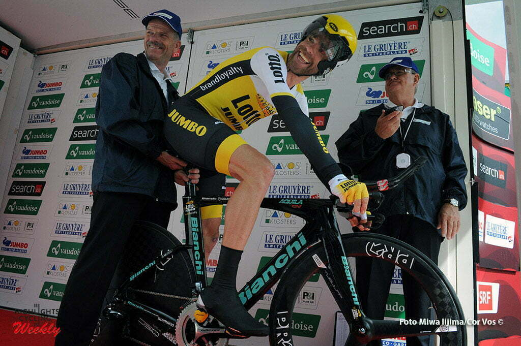 Davos - Switserland - wielrennen - cycling - radsport - cyclisme - Bram Tankink (Netherlands / Team LottoNL - Jumbo) pictured during stage 8 of the Tour de Suisse 2016 from Davos to Davos (16,8 km) ITT - Individual Time Trial - photo Miwa IIjima/Cor Vos © 2016