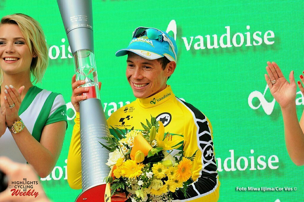 Davos - Switserland - wielrennen - cycling - radsport - cyclisme - Lopez Moreno Miguel Angel (Spain / Team Astana) pictured during stage 9 of the Tour de Suisse 2016 from Davos to Davos (117,7 km) - photo Miwa IIjima/Cor Vos © 2016
