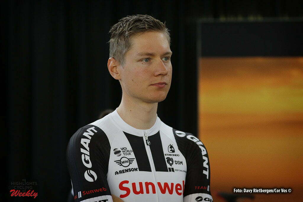 Osnabruck - Munster Airport - Germany - Cycling - radsport - cyclisme - wielrennen - Wilco Kelderman pictured during the teampresentation of Team Sunweb in Osnabruck/Munster - foto Davy Rietbergen/Cor Vos © 2017