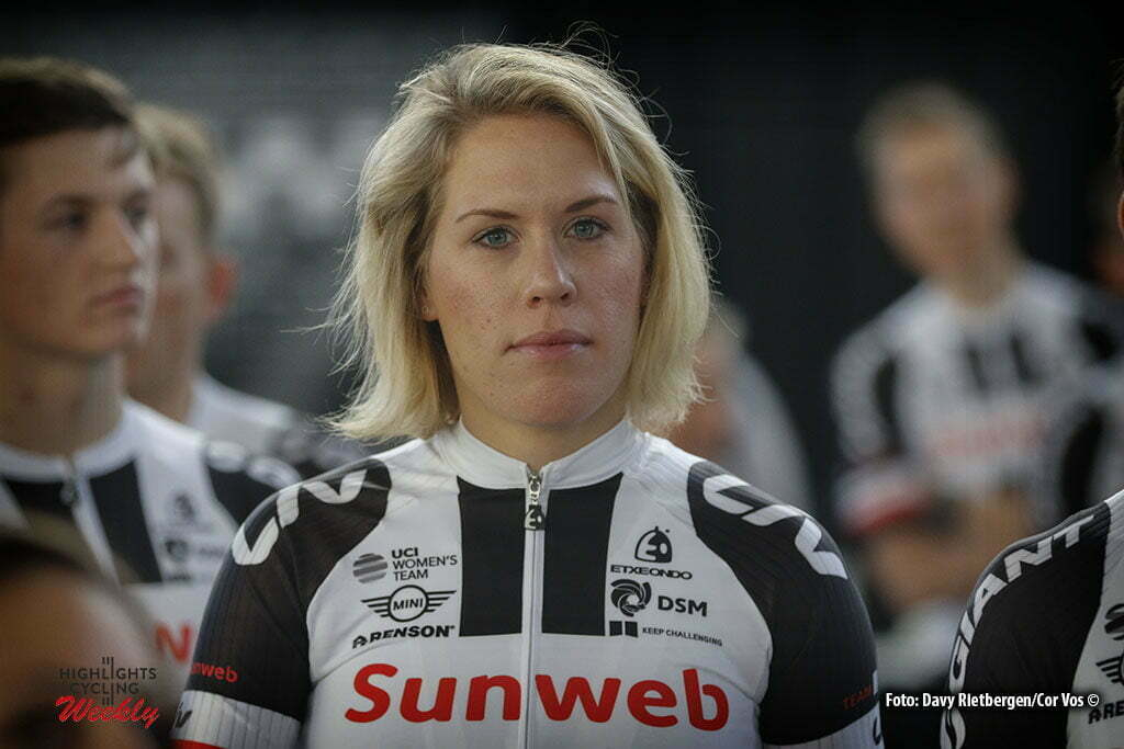 Osnabruck - Munster Airport - Germany - Cycling - radsport - cyclisme - wielrennen - Ellen van Dijk pictured during the teampresentation of Team Sunweb in Osnabruck/Munster - foto Davy Rietbergen/Cor Vos © 2017