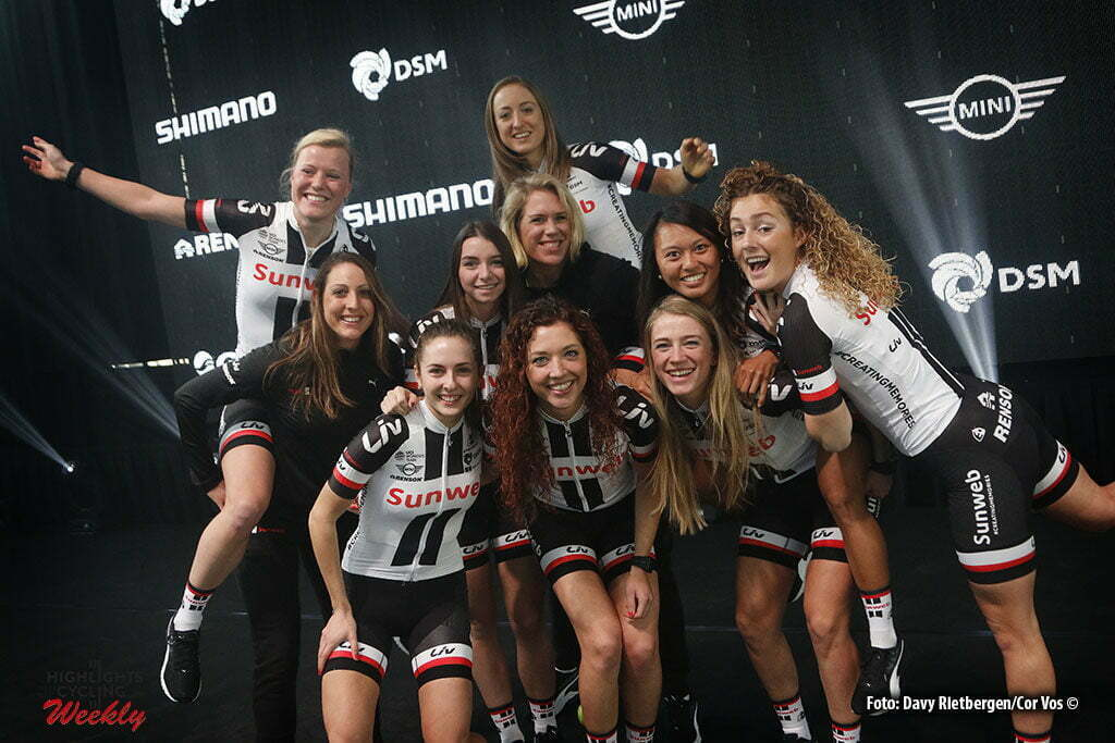 Osnabruck - Munster Airport - Germany - Cycling - radsport - cyclisme - wielrennen - the women's team pictured during the teampresentation of Team Sunweb in Osnabruck/Munster - foto Davy Rietbergen/Cor Vos © 2017