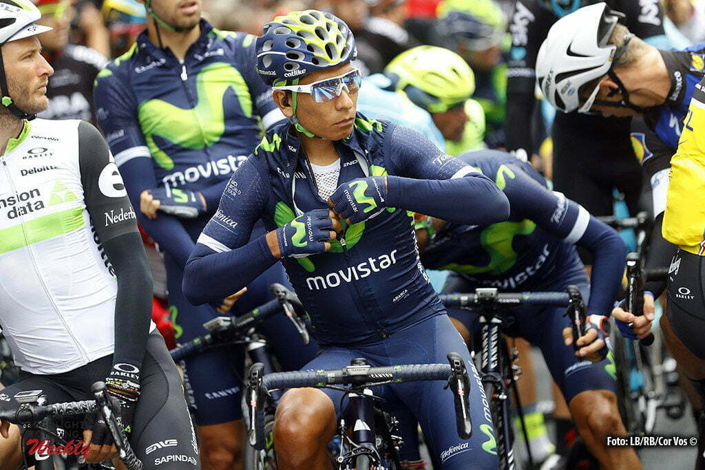 Cherbourg-Octeville - France - wielrennen - cycling - radsport - cyclisme - Nairo Quintana (COL-Movistar) pictured during stage 2 of the 2016 Tour de France from Saint-Lo to Cherbourg-Octeville, 182.00 km - photo Cor Vos © 2016
