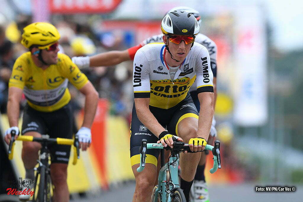 Cherbourg-Octeville - France - wielrennen - cycling - radsport - cyclisme - Sep Vanmarcke (BEL-LottoNL-Jumbo) - Mark Cavendish (GBR-Dimension Data) pictured during stage 2 of the 2016 Tour de France from Saint-Lo to Cherbourg-Octeville, 182.00 km - photo NV/PN/Cor Vos © 2016