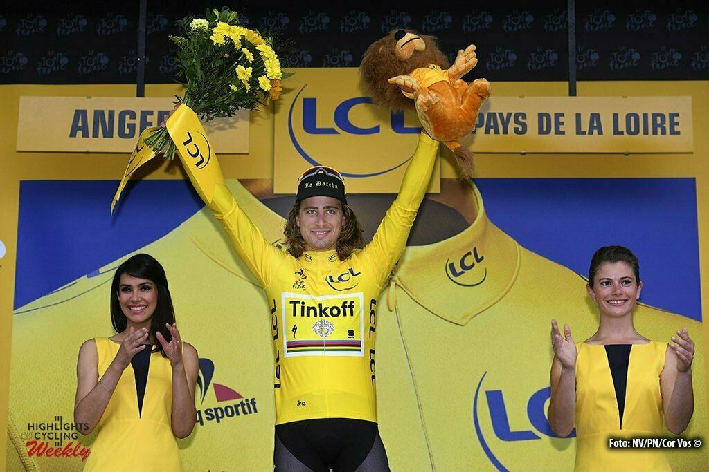 Angers - France - wielrennen - cycling - radsport - cyclisme - Peter Sagan (SLK-Tinkoff) pictured during stage 3 of the 2016 Tour de France from Granville to Angers, 222.00 km - photo NV/PN/Cor Vos © 2016