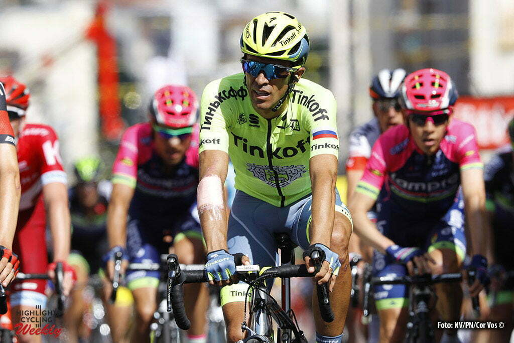 Limoges - France - wielrennen - cycling - radsport - cyclisme - Alberto Contador (SPA-Tinkoff) pictured during stage 4 of the 2016 Tour de France from Saumur to Limoges, 232.00 km - photo LB/RB/Cor Vos © 2016
