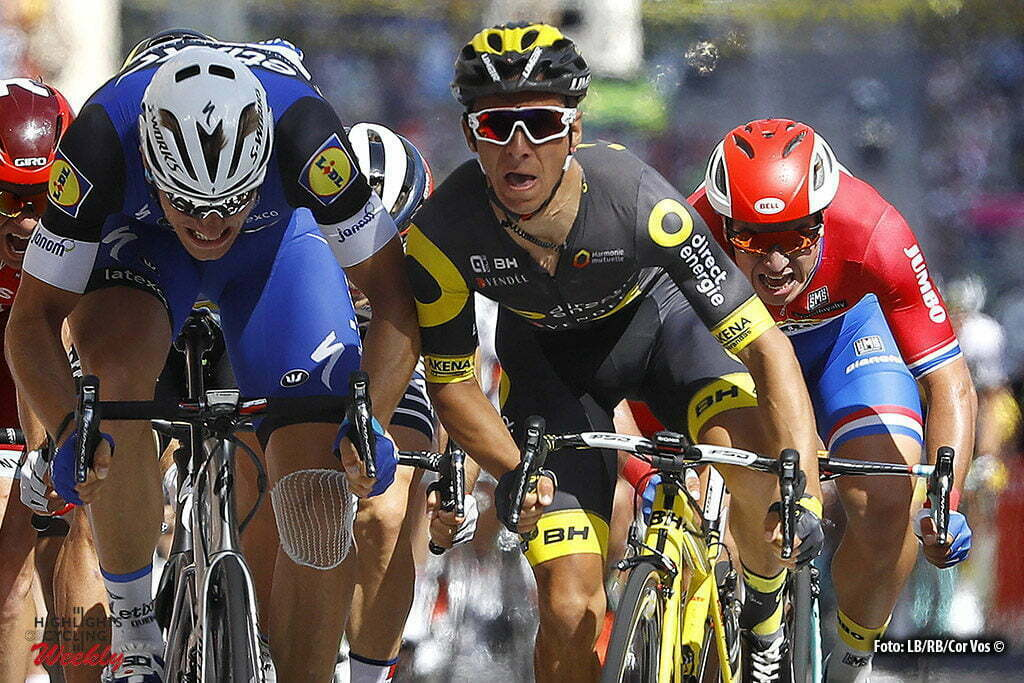 Limoges - France - wielrennen - cycling - radsport - cyclisme - Marcel Kittel (Etixx - Quick Step) - Bryan Coquard (Direct Energie) - Dylan Groenewegen (NED-LottoNL-Jumbo) pictured during stage 4 of the 2016 Tour de France from Saumur to Limoges, 232.00 km - photo LB/RB/Cor Vos © 2016