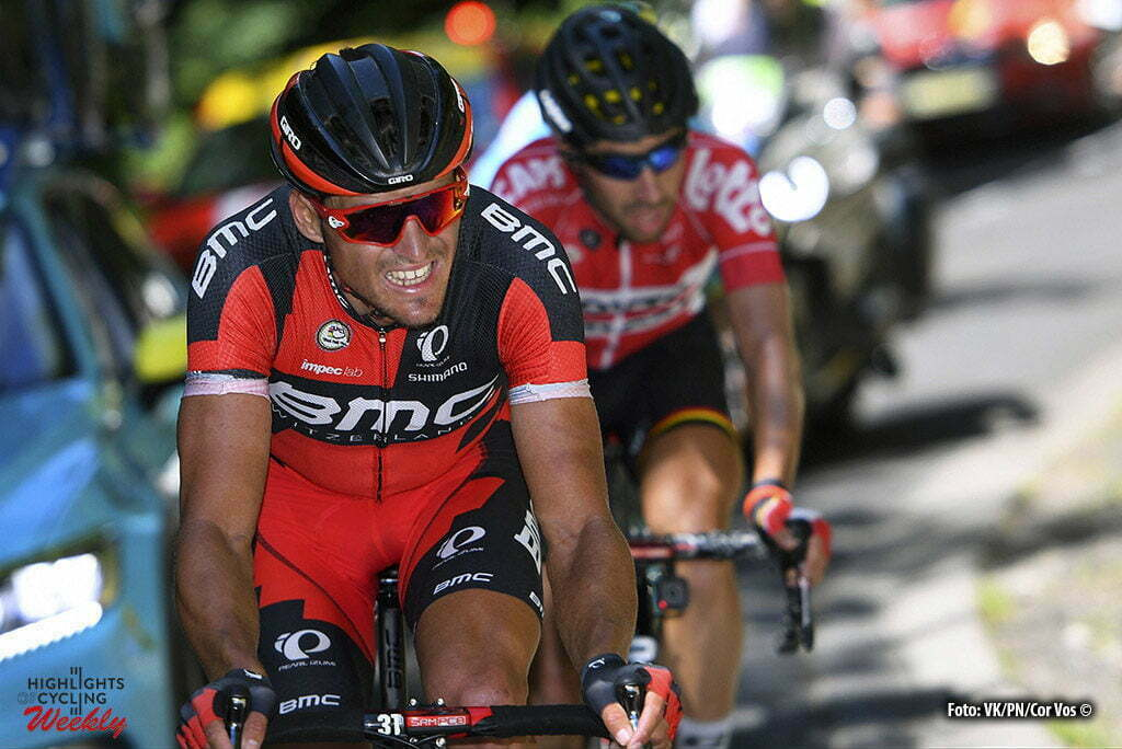 Le Lioran - France - wielrennen - cycling - radsport - cyclisme - Greg van Avermaet (BEL-BMC Racing Team) - Thomas de Gendt (BEL-Lotto-Soudal) pictured during stage 5 of the 2016 Tour de France from Limoges to Le Lioran, 216.00 km - photo VK/PN//Cor Vos © 2016
