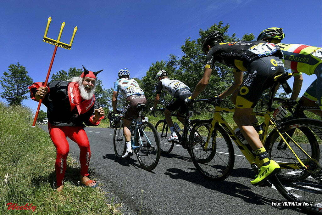 Le Lioran - France - wielrennen - cycling - radsport - cyclisme - Diablo The Tour Devil pictured during stage 5 of the 2016 Tour de France from Limoges to Le Lioran, 216.00 km - photo VK/PN/Cor Vos © 2016