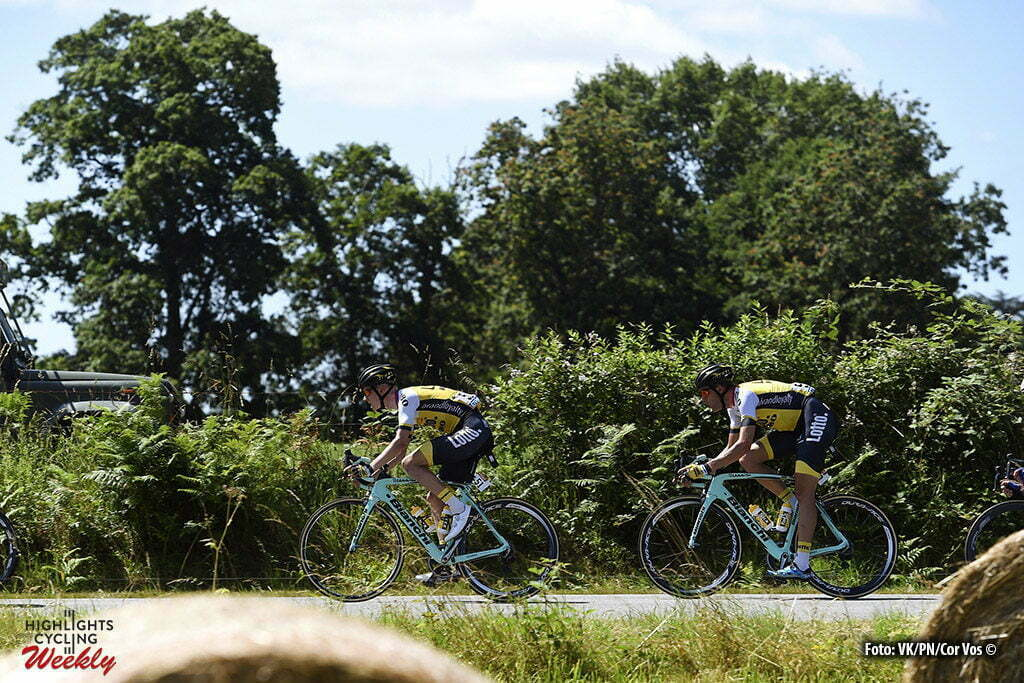 Le Lioran - France - wielrennen - cycling - radsport - cyclisme - Wilco Kelderman (NED-LottoNL-Jumbo) - Maarten Wynants (BEL-LottoNL-Jumbo) pictured during stage 5 of the 2016 Tour de France from Limoges to Le Lioran, 216.00 km - photo NV/PN/Cor Vos © 2016