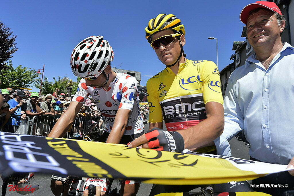 Montauban - France - wielrennen - cycling - radsport - cyclisme - Greg van Avermaet (BEL-BMC Racing Team) - Thomas de Gendt (BEL-Lotto-Soudal) pictured during stage 6 of the 2016 Tour de France from Arpajon-sur-Cère to Montauban, 187.00 km - photo NV/PN/Cor Vos © 2016