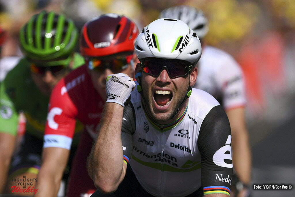Montauban - France - wielrennen - cycling - radsport - cyclisme - Mark Cavendish (GBR-Dimension Data) celebrates his win pictured during stage 6 of the 2016 Tour de France from Arpajon-sur-Cère to Montauban, 187.00 km - photo VK/PN/Cor Vos © 2016