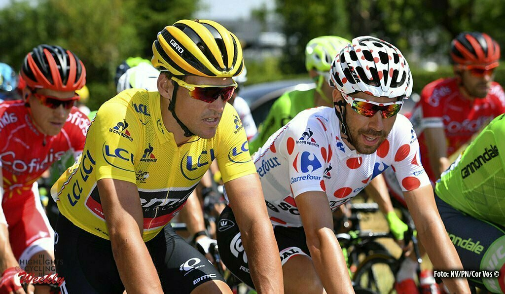 Lac de Payolle - France - wielrennen - cycling - radsport - cyclisme - Greg van Avermaet (BEL-BMC Racing Team) - Thomas de Gendt (BEL-Lotto-Soudal) pictured during stage 7 of the 2016 Tour de France from L'Isle-Jourdain to Lac de Payolle, 162.00 km - photo VK/PN/Cor Vos © 2016