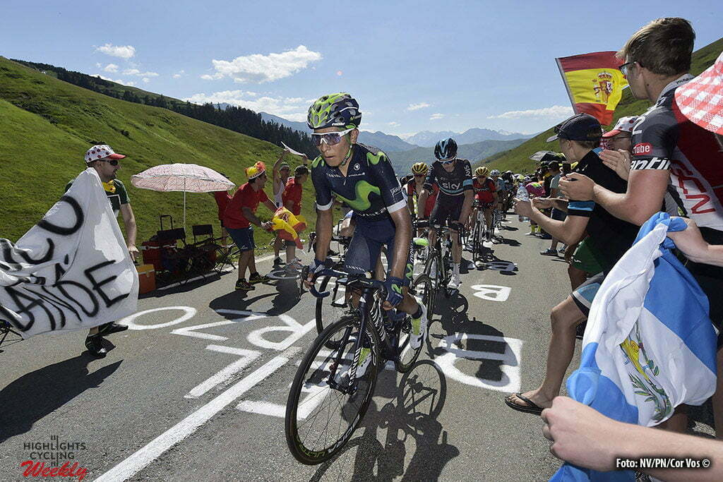 Bagneres-de-Luchon - France - wielrennen - cycling - radsport - cyclisme - Nairo Quintana (COL-Movistar) - Chris Froome (GBR-Team Sky) pictured during stage 8 of the 2016 Tour de France from Pau to Bagneres-de-Luchon, 183.00 km - photo NV/PN/Cor Vos © 2016