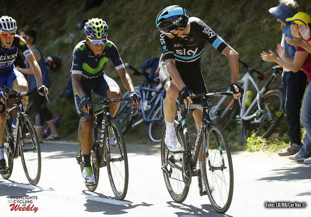 Bagneres-de-Luchon - France - wielrennen - cycling - radsport - cyclisme - Chris Froome (GBR-Team Sky) - Nairo Quintana (COL-Movistar) pictured during stage 8 of the 2016 Tour de France from Pau to Bagneres-de-Luchon, 183.00 km - photo LB/RB/Cor Vos © 2016
