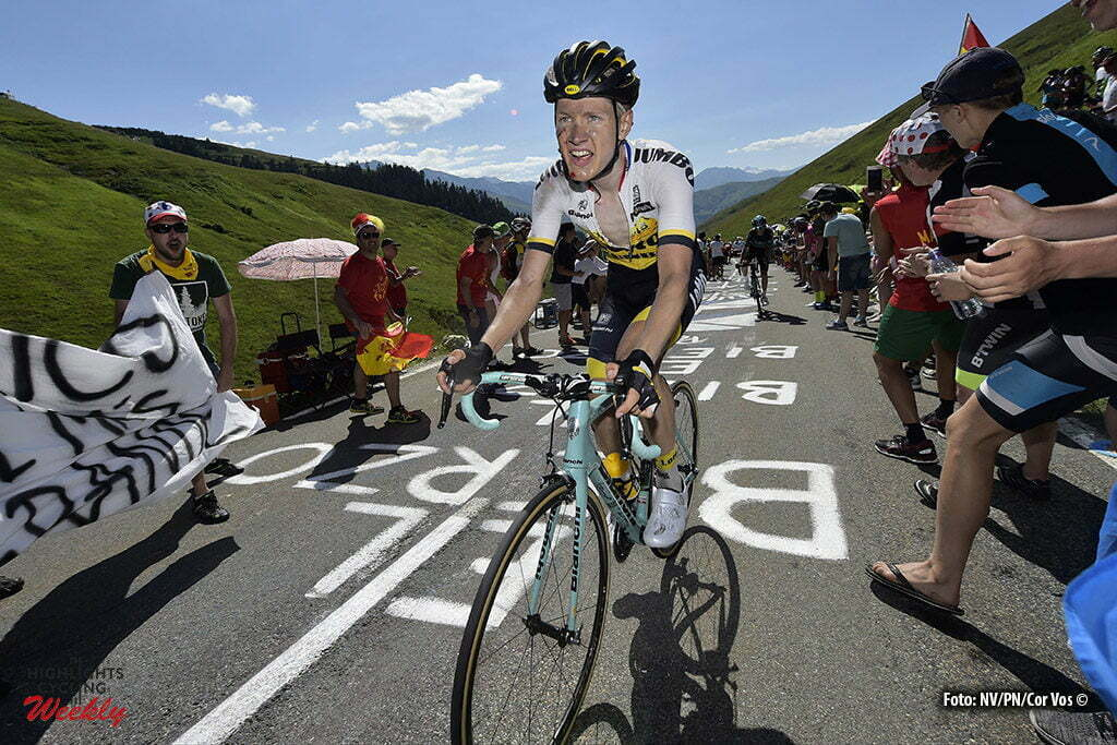 Bagneres-de-Luchon - France - wielrennen - cycling - radsport - cyclisme - Wilco Kelderman (NED-LottoNL-Jumbo) after his crash in the decent pictured during stage 8 of the 2016 Tour de France from Pau to Bagneres-de-Luchon, 183.00 km - photo NV/PN/Cor Vos © 2016