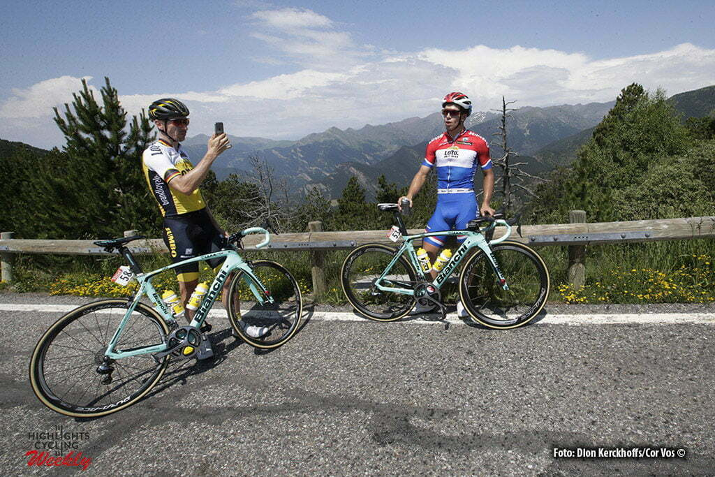 Andorre - France - wielrennen - cycling - radsport - cyclisme - Robert Wagner (GER-LottoNL-Jumbo) - Dylan Groenewegen (NED-LottoNL-Jumbo) pictured during the first restday of the 2016 Tour de France in Andorre - photo Dion Kerkhoffs/Cor Vos © 2016