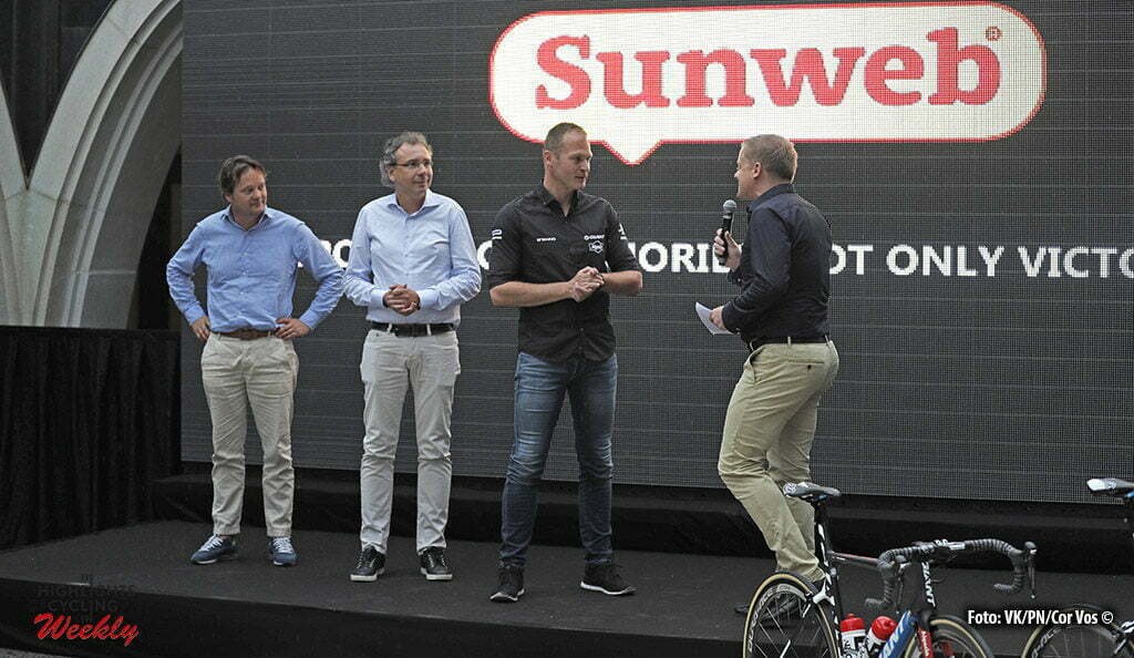 Andorre - France - wielrennen - cycling - radsport - cyclisme - Joost Romeyn, CEO Sunweb - Iwan Spekenbrink (Netherlands / Teammanager Team Giant - Alpecin) presentation sponsor Sumweb - team Giant-Alpecin pictured during the first restday of the 2016 Tour de France in Andorre - photo Dion Kerkhoffs/Cor Vos © 2016