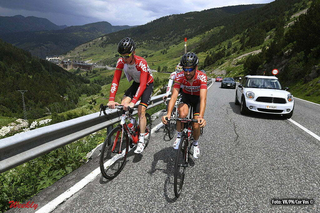 Andorre - France - wielrennen - cycling - radsport - cyclisme - Marcel Sieberg (GER-Lotto-Soudal) - Thomas de Gendt (BEL-Lotto-Soudal) pictured during the first restday of the 2016 Tour de France in Andorre - photo VK/PN/Cor Vos © 2016