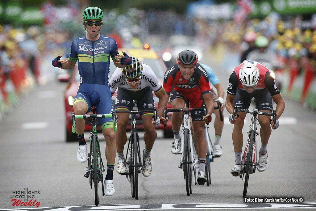 Revel - France - wielrennen - cycling - radsport - cyclisme - Michael Matthews (AUS-Orica-BikeExchange 0 Peter Sagan (SLK-Tinkoff) - Greg van Avermaet (BEL-BMC Racing Team) pictured during stage 10 of the 2016 Tour de France from Escaldes-Engordany to Revel, 198.00 km- photo Dion Kerckhoffs/Tim van Wichelen/Cor Vos © 2016