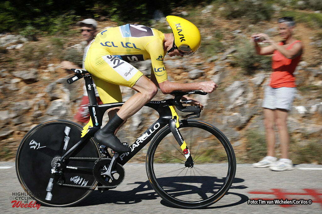 La Caverne du Pont-d'Arc - France - wielrennen - cycling - radsport - cyclisme - Chris Froome (GBR-Team Sky) pictured during stage 13 of the 2016 Tour de France from Bourg-Saint-Andéol - La Caverne du Pont-d'Arc - ITT, Time Trial Individual - 37.00 km- photo Tim van Wichelen/Cor Vos © 2016