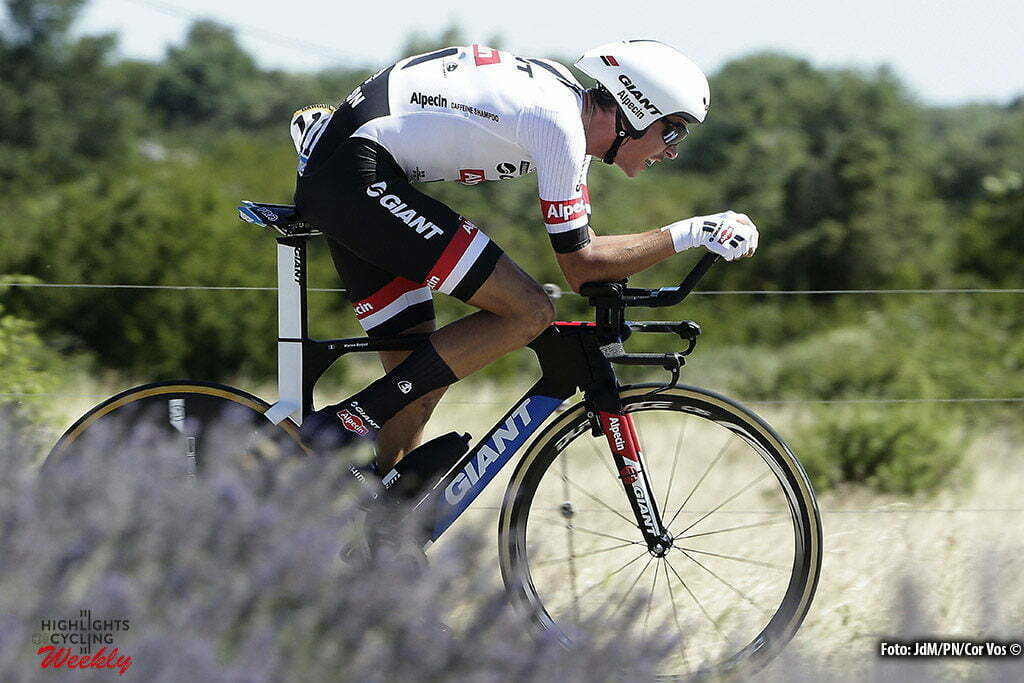 La Caverne du Pont-d'Arc - France - wielrennen - cycling - radsport - cyclisme - Warren Barguil (FRA-Giant-Alpecin) pictured during stage 13 of the 2016 Tour de France from Bourg-Saint-Andéol - La Caverne du Pont-d'Arc - ITT, Time Trial Individual - 37.00 km- photo JdM/PN/Cor Vos © 2016