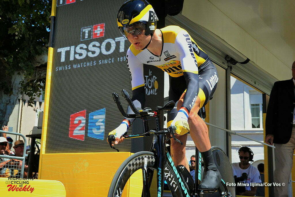 La Caverne du Pont-d'Arc - France - wielrennen - cycling - radsport - cyclisme - Wilco Kelderman (NED-LottoNL-Jumbo) pictured during stage 13 of the 2016 Tour de France from Bourg-Saint-Andéol - La Caverne du Pont-d'Arc - ITT, Time Trial Individual - 37.00 km- photo Miwa iijima/Cor Vos © 2016