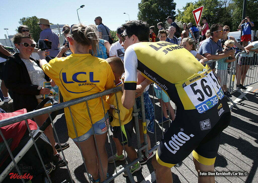 Villars-les-Dombes Parc des Oiseaux- France - wielrennen - cycling - radsport - illustratie - illustratie - sfeer Timo Roosen (NED-LottoNL-Jumbo) pictured during stage 14 of the 2016 Tour de France from Montelimar to Villars-les-Dombes Parc des Oiseaux, 208.00 km - photo Dion Kerckhoffs/Tim van Wichelen/Cor Vos © 2016