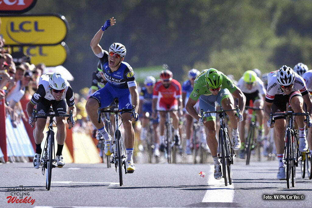 Villars-les-Dombes Parc des Oiseaux- France - wielrennen - cycling - radsport - cyclisme - Mark Cavendish (GBR-Dimension Data) - Marcel Kittel (GER-Etixx-QuickStep) - Peter Sagan (SLK-Tinkoff) - John Degenkolb (GER-Giant-Alpecin) pictured during stage 14 of the 2016 Tour de France from Montelimar to Villars-les-Dombes Parc des Oiseaux, 208.00 km - photo NV/PN/Cor Vos © 2016