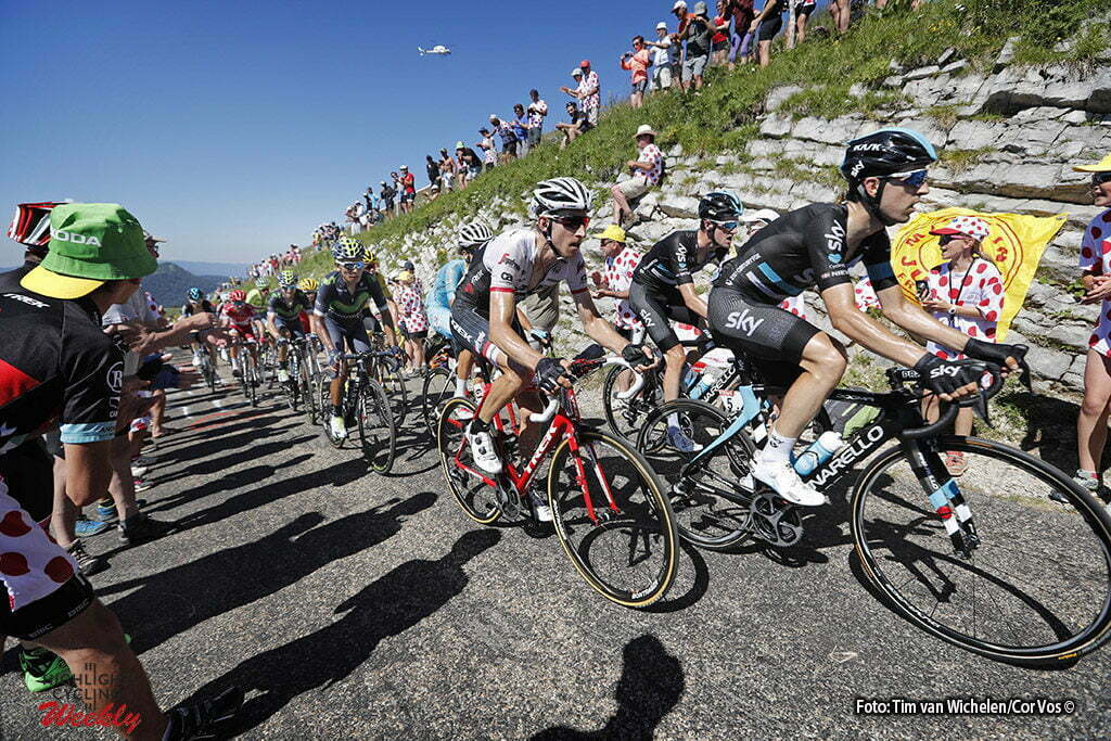 Culoz - France - wielrennen - cycling - radsport - cyclisme - Mikel Nieve (SPA-Team Sky) - Wout Poels (NED-Team Sky) - Bauke Mollema (NED-Trek Segafredo) pictured during stage 15 of the 2016 Tour de France from Bourg-en-Bresse to Culoz, 159.00 km - photo Dion Kerckhoffs/Tim van Wichelen/Cor Vos © 2016