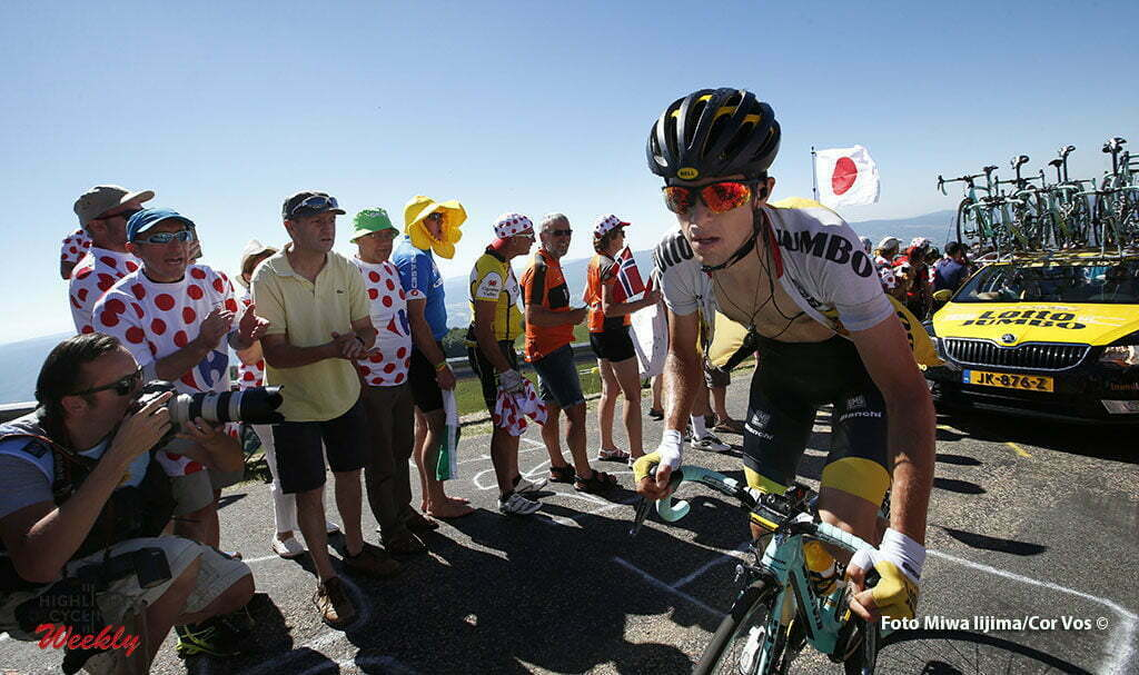 Culoz - France - wielrennen - cycling - radsport - cyclisme - George Bennet (NZL-LottoNL-Jumbo) pictured during stage 15 of the 2016 Tour de France from Bourg-en-Bresse to Culoz, 159.00 km - photo Dion Kerckhoffs/Tim van Wichelen/Cor Vos © 2016
