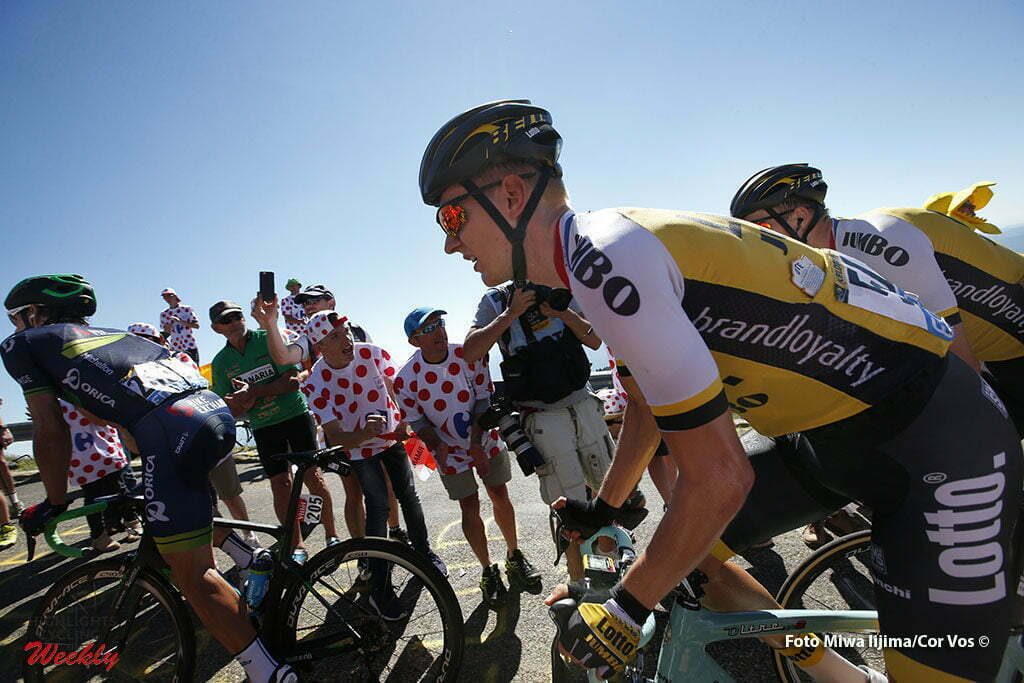 Culoz - France - wielrennen - cycling - radsport - cyclisme - Wilco Kelderman (NED-LottoNL-Jumbo) - Bert-Jan Lindeman (NED-LottoNL-Jumbo) pictured during stage 15 of the 2016 Tour de France from Bourg-en-Bresse to Culoz, 159.00 km - photo Dion Kerckhoffs/Tim van Wichelen/Cor Vos © 2016