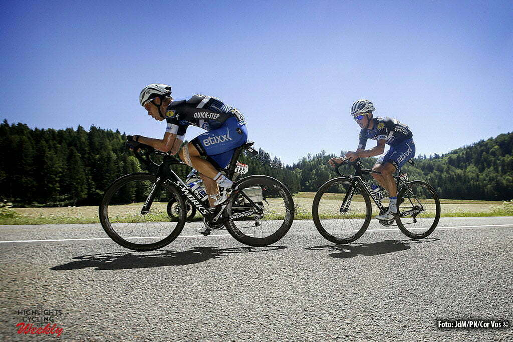 Bern - Suisse - wielrennen - cycling - radsport - cyclisme - Tony Martin (GER-Etixx-QuickStep) - Julian Alaphilippe (FRA-Etixx-QuickStep) pictured during stage 16 of the 2016 Tour de France from Moirans-en-Montagne to Bern, Switserland - 206.00 km - photo JdM/PN/Cor Vos © 2016