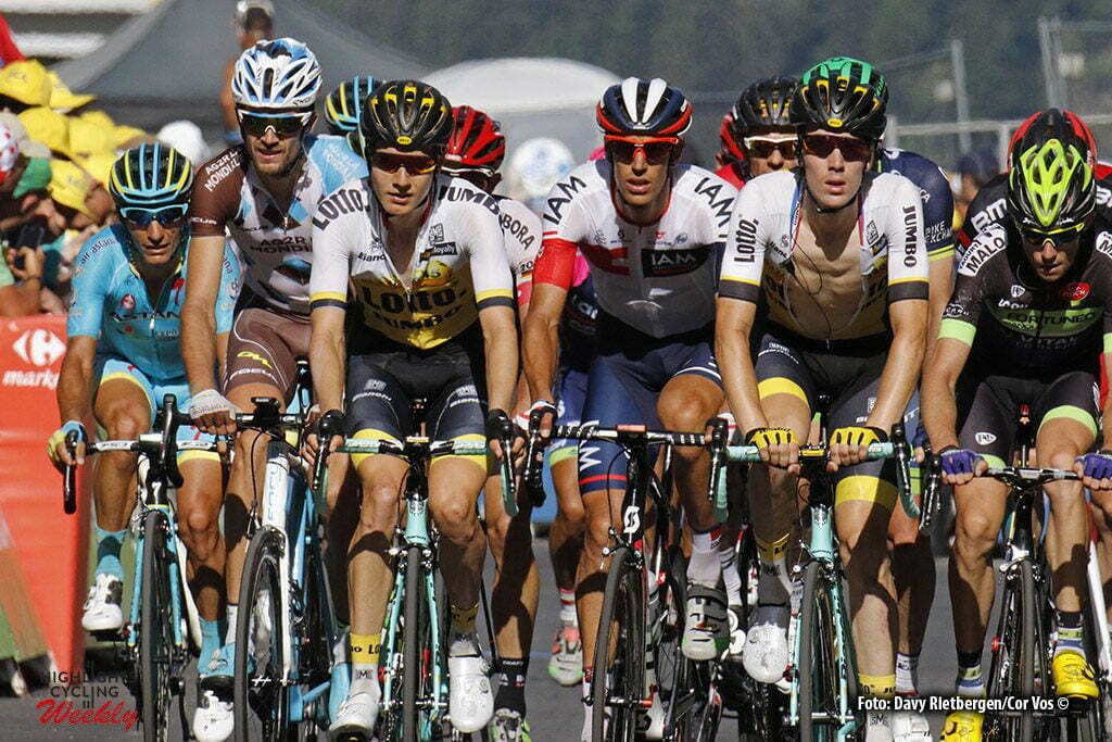 Finhaut-Emosson - Suisse - wielrennen - cycling - radsport - cyclisme - Wilco Kelderman (NED-LottoNL-Jumbo) - Timo Roosen (NED-LottoNL-Jumbo) pictured during stage 17 of the 2016 Tour de France from Bern to Finhaut-Emosson, 184.00 km - photo Davy Rietbergen/Cor Vos © 2016