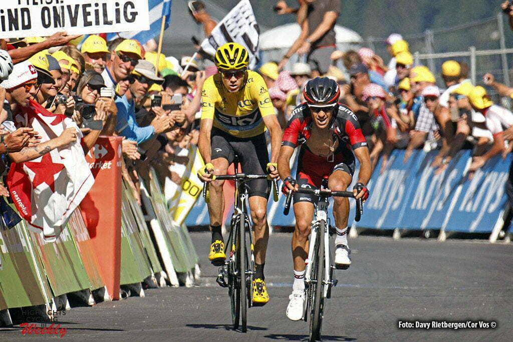 Finhaut-Emosson - Suisse - wielrennen - cycling - radsport - cyclisme - Richie Porte (AUS-BMC Racing Team) - Chris Froome (GBR-Team Sky) pictured during stage 17 of the 2016 Tour de France from Bern to Finhaut-Emosson, 184.00 km - photo Davy Rietbergen/Cor Vos © 2016