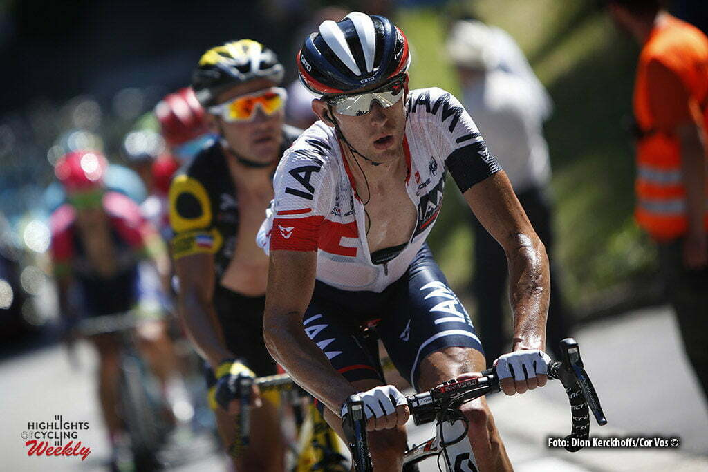 Finhaut-Emosson - Suisse - wielrennen - cycling - radsport - cyclisme - Stef Clement (NED-IAM Cycling) - Thomas Voeckler (FRA-Direct Energie) pictured during stage 17 of the 2016 Tour de France from Bern to Finhaut-Emosson, 184.00 km - photo Dion Kerkhoffs/Cor Vos © 2016