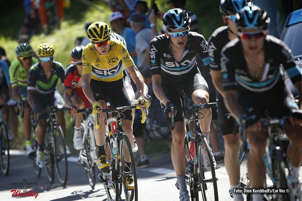 Finhaut-Emosson - Suisse - wielrennen - cycling - radsport - cyclisme - Wout Poels (NED-Team Sky) - Chris Froome (GBR-Team Sky) pictured during stage 17 of the 2016 Tour de France from Bern to Finhaut-Emosson, 184.00 km - photo Dion Kerkhoffs/Cor Vos © 2016