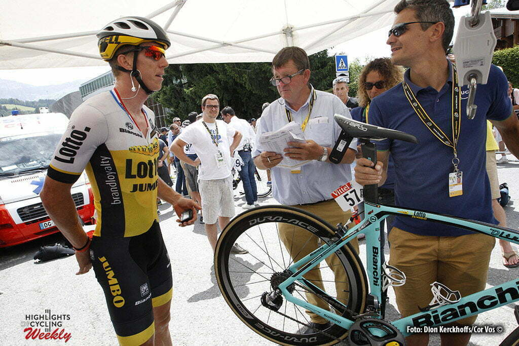 Megeve - France - wielrennen - cycling - radsport - cyclisme - Weight- and mechanical dopingcontrole bikie of Sep Vanmarcke (BEL-LottoNL-Jumbo) pictured during stage 18 of the 2016 Tour de France from Sallanches to Megeve ITT, 17.00 km - photo Dion Kerkhoffs/Davy Rietbergen/Cor Vos © 2016