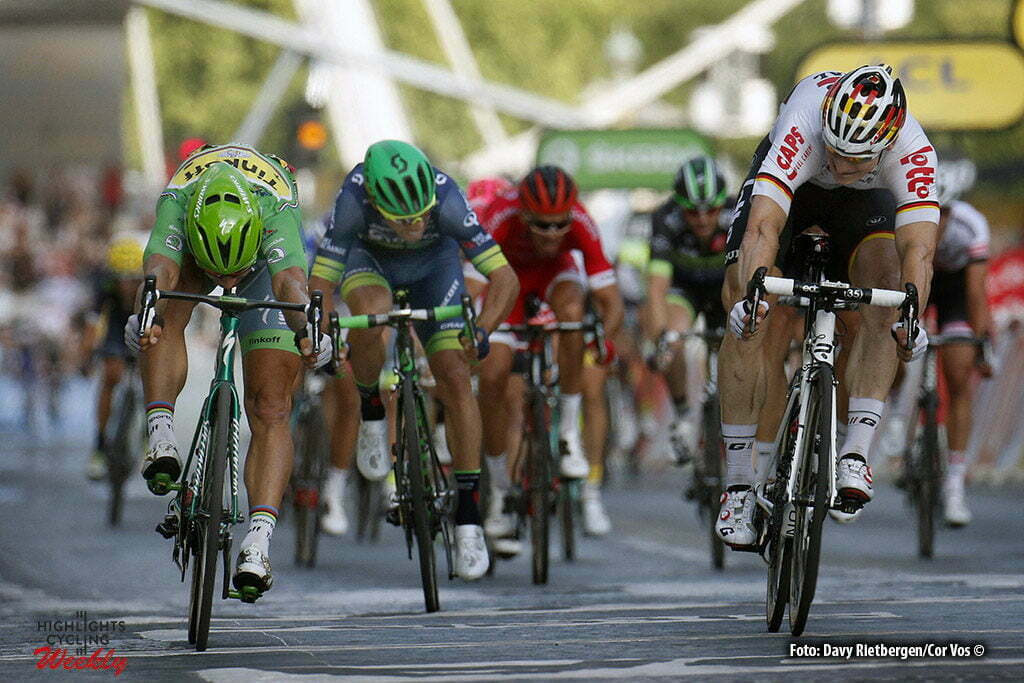 Paris - France - wielrennen - cycling - radsport - cyclisme - Andre Greipel (Germany / Team Lotto Soudal) - Peter Sagan (Slowakia / Team Tinkoff - Tinkov) pictured during stage 21 of the 2016 Tour de France from Chantilly to Paris, 113.00 km - photo Dion Kerckhoffs//Davy Rietbergen/Cor Vos © 2016